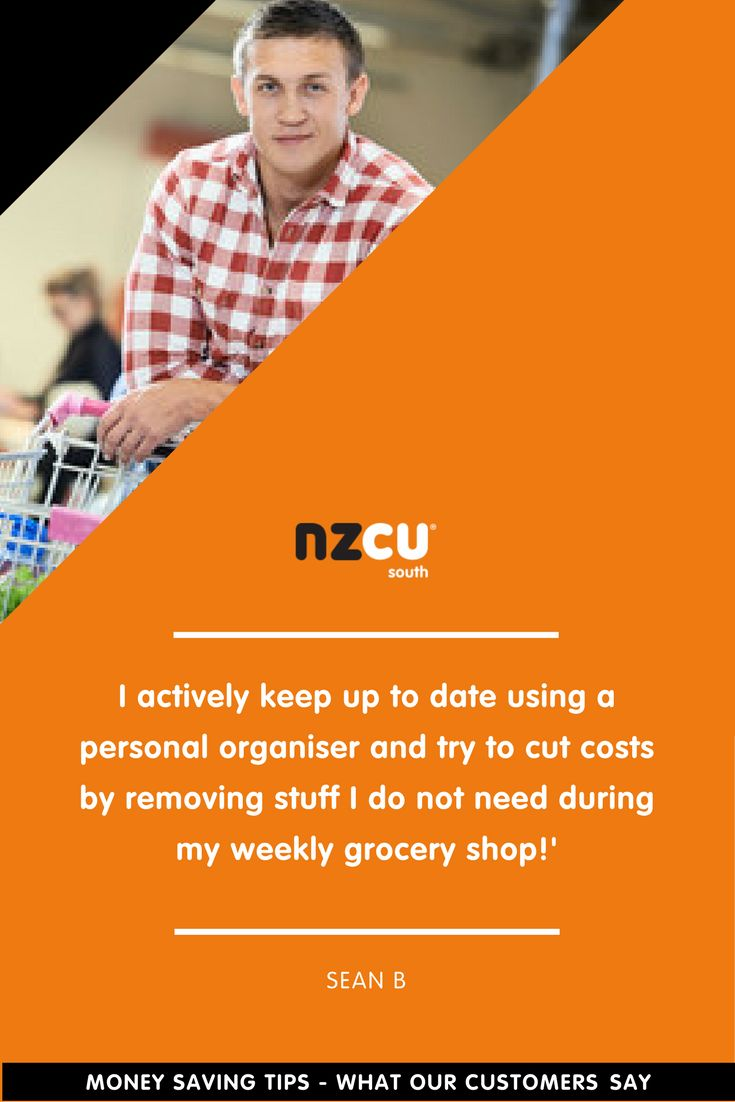 I actively keep up to date using a personal organiser and try to cut costs by removing stuff I do not need during my weekly grocery shop!'