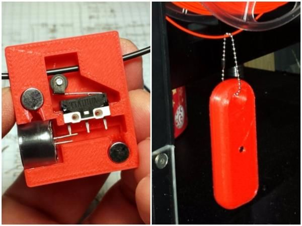 Maker Donald Papp has designed a 3D printer filament alarm that alerts users when their printer is out of filament. The device, dubbed 'Mister Screamer,' is designed to loosely hang over the filament; when the spool runs out, Mister Screamer will drop to the ground, causing it to emit a loud sound.