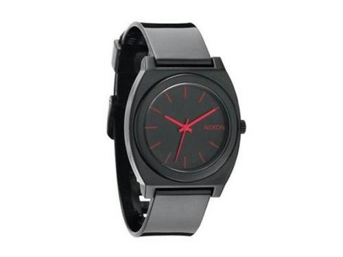 reloj nixon the time teller negro y rosa