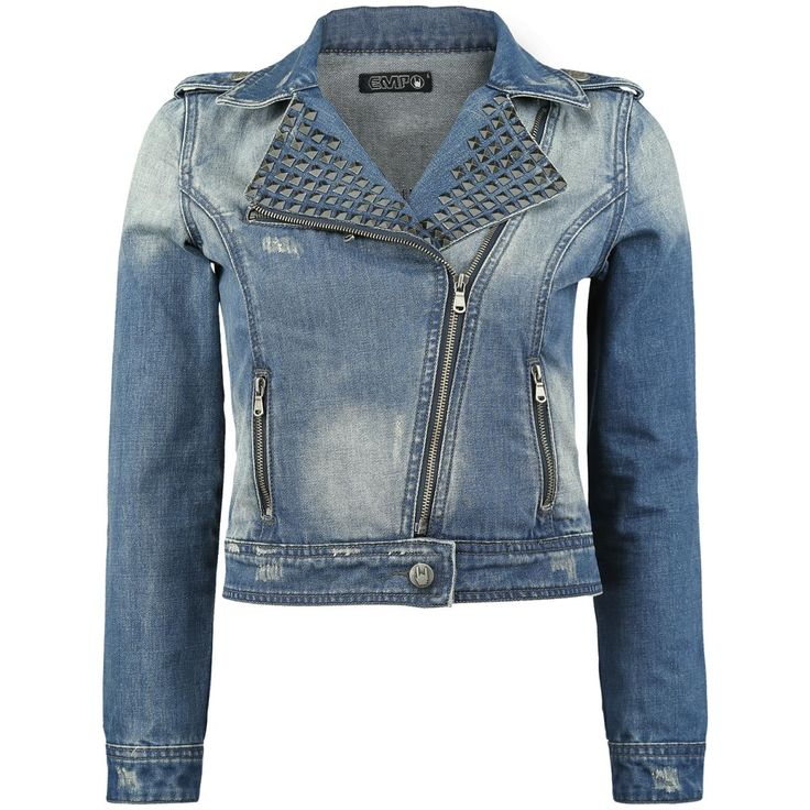Jeans always are the right thing! With the short cut girls jeans jacket you can't do wrong. The Studded Jeans Jacket of Black Premium by EMP in blue features a zipper and studs at the collar. The jeans jacket is ...