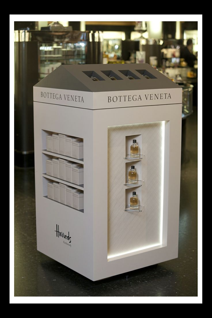 Bottega Veneta Perfume Display by Elemental Design.