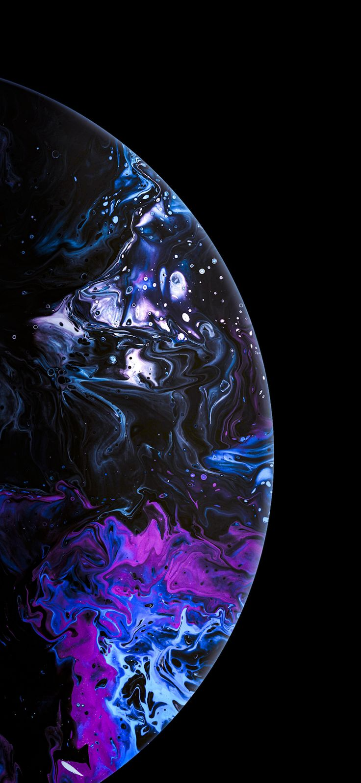 Purplish Bubble wallpaper, Apple wallpaper