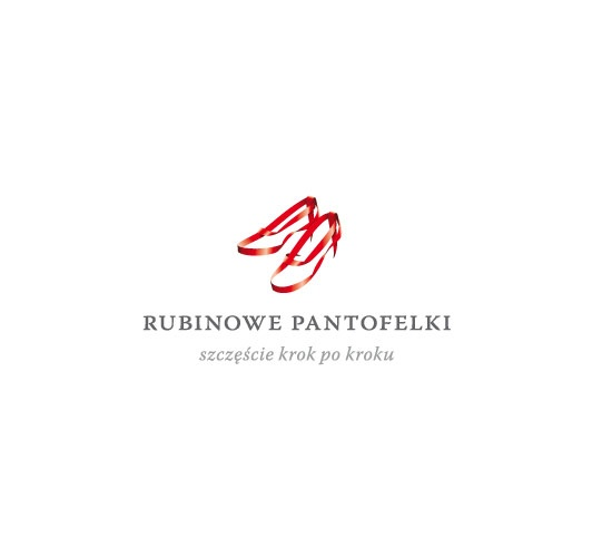 """Two young women wanted to establish a company called 'Ruby Wedding Shoes' (""""Rubinowe Pantofelki"""") and therefore needed a new brand. The company would specialize in complex organization of weddings and wedding receptions.We built a new brand identity from the very beginning: We created a special logo with ruby ribbons and the claim: 'Happiness step by step' (""""Szczęście krok po kroku""""). We also gave the company the unique nature of stationery and the website. #logo #branding…"""