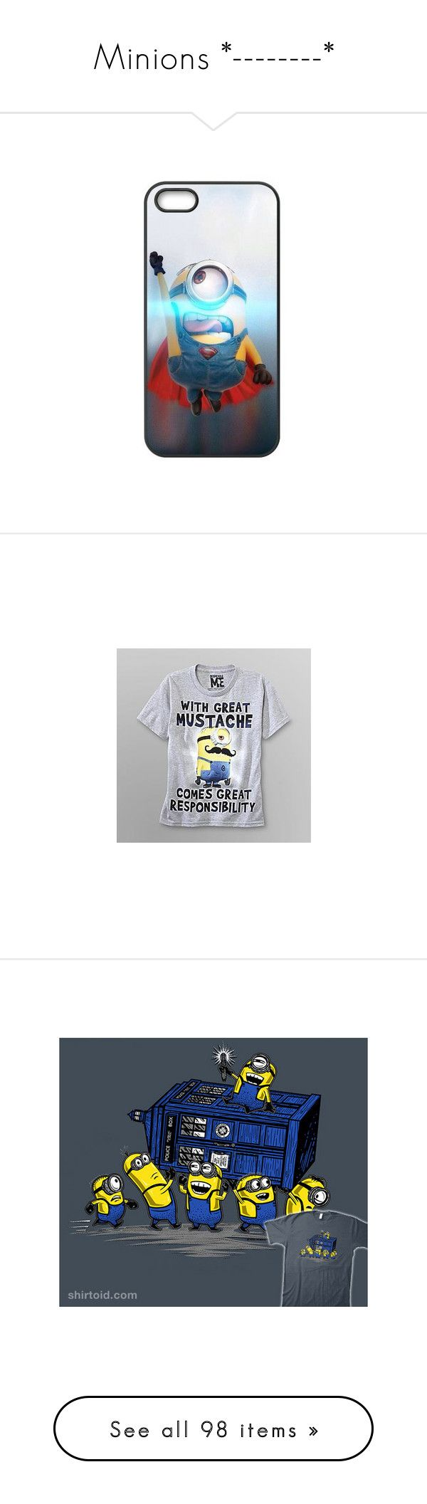 """""""Minions *--------*"""" by angeline-vellar ❤ liked on Polyvore featuring shoes, converse, minions, chaussure, sneakers, accessories, tech accessories, phone cases, phones and electronics"""