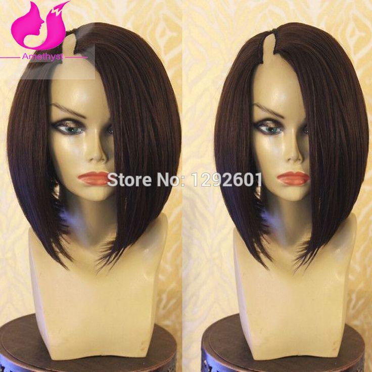 """8A Short Bob U Part Wigs Brazilian Virgin Hair Lace Front Human Hair Bob Wigs For Black Women Glueless U Part Wigs Free Shipping 8""""--14"""",130 density,straight bob u part human hair wigs  our Store No.1292601 on Aliexpress Whats App:+86 15063081830"""