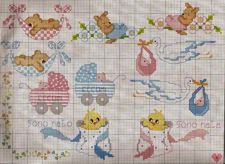 127 best punto croce images on pinterest embroidery for Ricami a punto croce per neonati