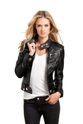 Best 25  Ladies black leather jacket ideas on Pinterest | Chic ...