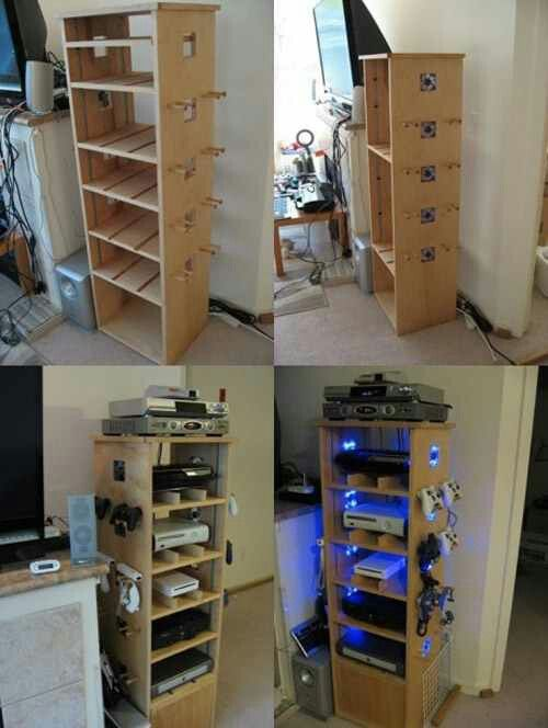 Build your own console tower, great for video game consoles, VCRs, and DVD players