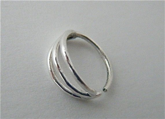 The Triple O Nose Hoop by aprilsblissed on Etsy, $50.00