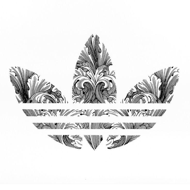 Спортивные логотипы в орнаментальном стиле