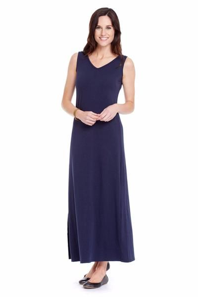 "UPF Clothing | UPF50+ ""Your Favourite Maxi Dress"" in ""Navy"" by SummerSkin"
