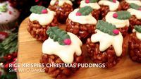 Rice Krispies Christmas Puddings. My latest quick video shows you how to make a no- bake sweet festive treat in no time at all! You will need; 50g butter 180g marshmallows 100g Rice Krispies 200g milkMore →