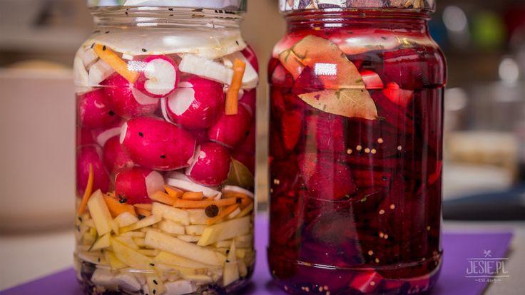 kiszone warzywa, rzodkiewki, buraki
