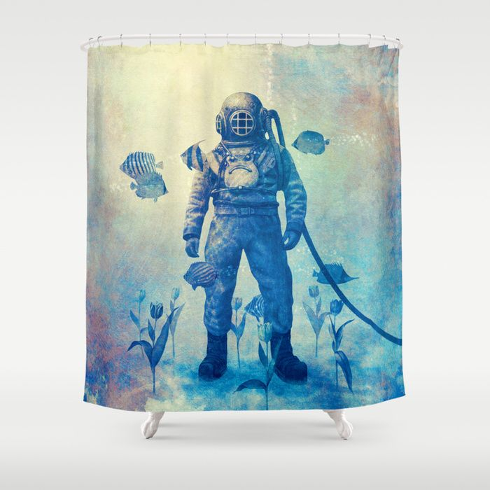 """Deep Sea Garden"" Shower Curtain by Terry Fan on Society6."