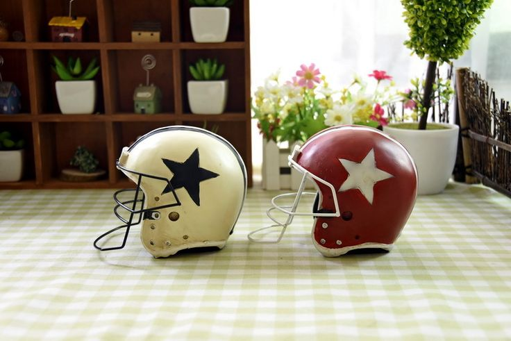 >> Click to Buy << American football ice hockey helmet  environmental protection resin crafts creative ornaments Photo Props #Affiliate