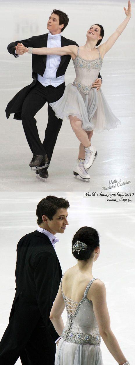 Tessa Virtue and Scott Moir's beautiful Golden Waltz costumes at the 2010 World Championships.