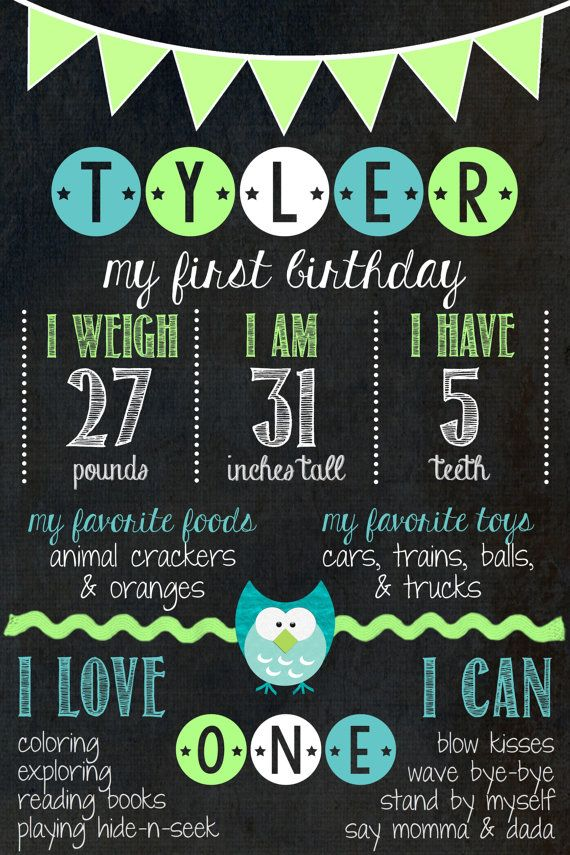 1st Birthday Chalkboard // Birthday Chalkboard от MsThirdGrade