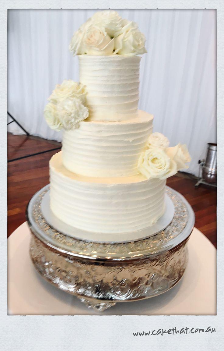 Gluten free Dairy Free Wedding Cake. Three tier cake.