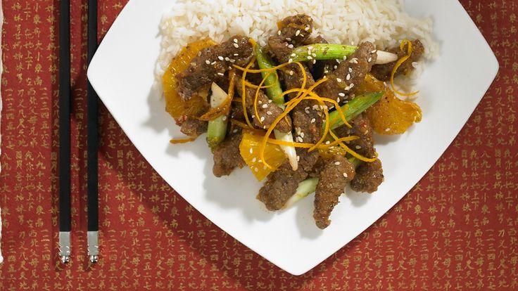 Beef and Orange Oriental Stir-fry