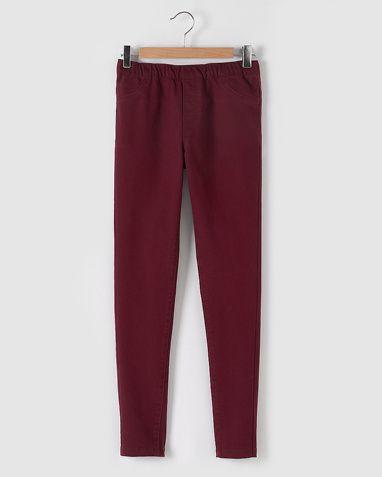 R Edition Jeansleggings i fargene Svart, Vinrød innen $GenderDepartment - Bukser…