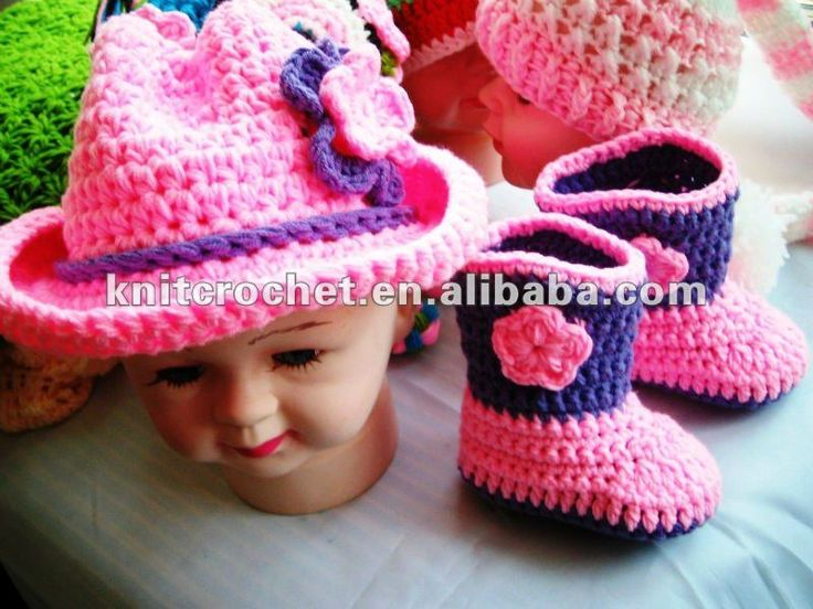 Baby Chick Booties Knitting Pattern : knitted cowboy booties ... Chick Hat & Booties Set ...