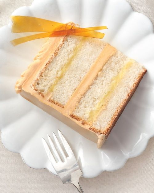 Heavenly Creme Brulee Cake: Vanilla bean pastry cream meets white butter cake in this take on the French classic. Includes recipes for white butter cake, caramel buttercream, and pastry cream.