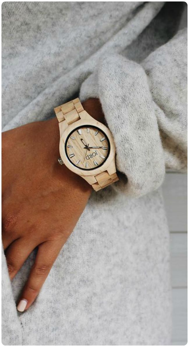 Cozy couture. There is never a need to sacrifice comfort for style - have both! Photo feature: @themeglife | Featured watch: Fieldcrest Maple - find the full series at woodwatches.com - free shipping worldwide!