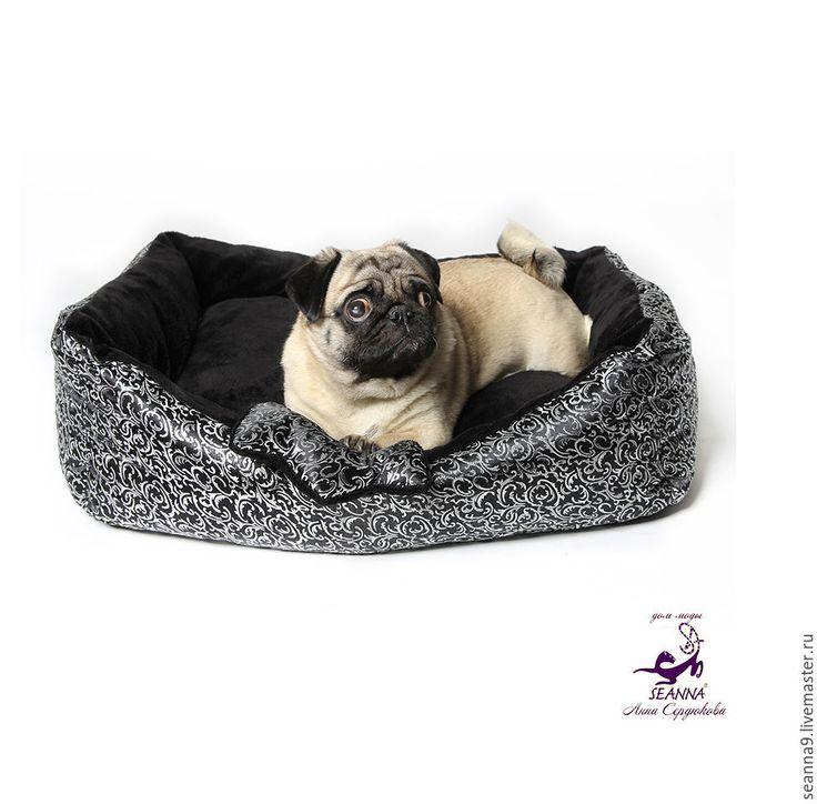 """Купить Лежанка для собаки или кошки """"Королевская"""" с игрушкой в подарок - серебряный, лежанка для собаки"""