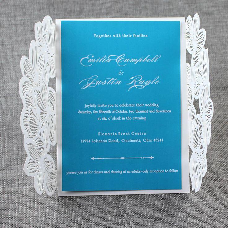 135 best laser cut wedding invitations images on pinterest laser teal blue laser cut wedding invitations elegant wedding invitations affordable laser cut wedding invitations stopboris Image collections
