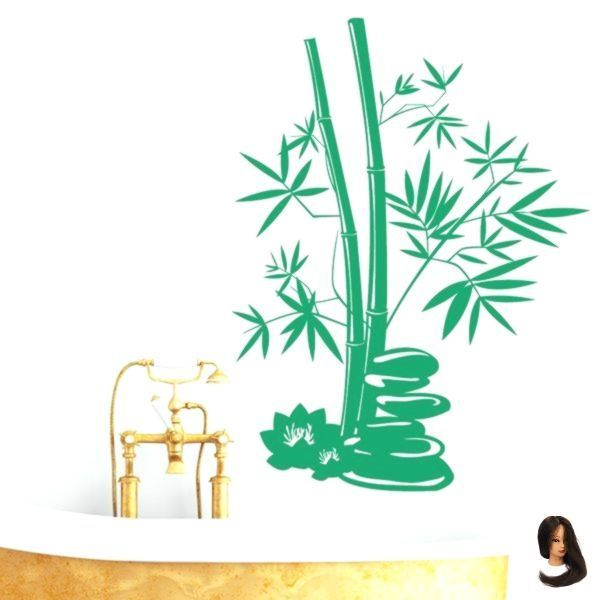 Wandtattoo Bambus Pflanze Badezimmer Steine Deko V Wandtattoo