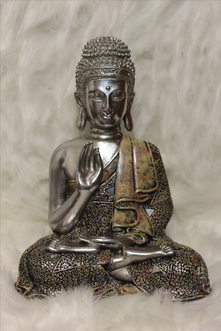 $80 LARGE beautiful vintage look Buddha Statue for sale at my etsy shop. For meditation, boho, yoga, home decor lovingthyself.net #buddha #statue