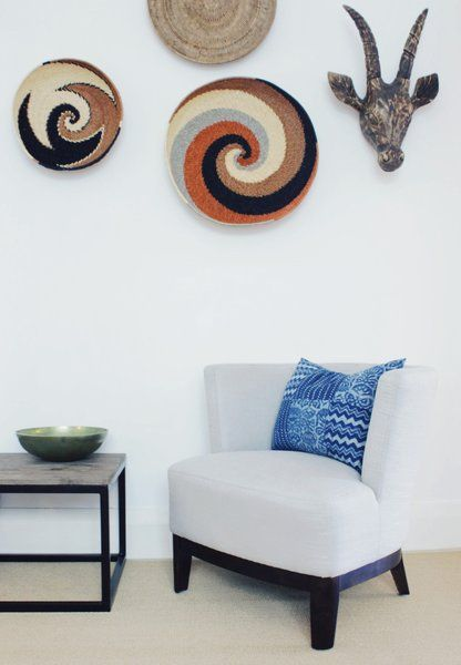Add personality to your contemporary interiors with textural decor and African flair from Orson & Blake. Visit www.myhuntergatherer.com for product purchase links.