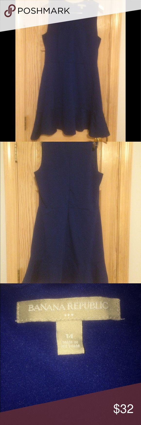 Royal Blue Banana Republic Fit n' Flare Dress This classic royal blue Banana Republic Fit n' Flare dress is perfect for work or play. Banana Republic Dresses Midi