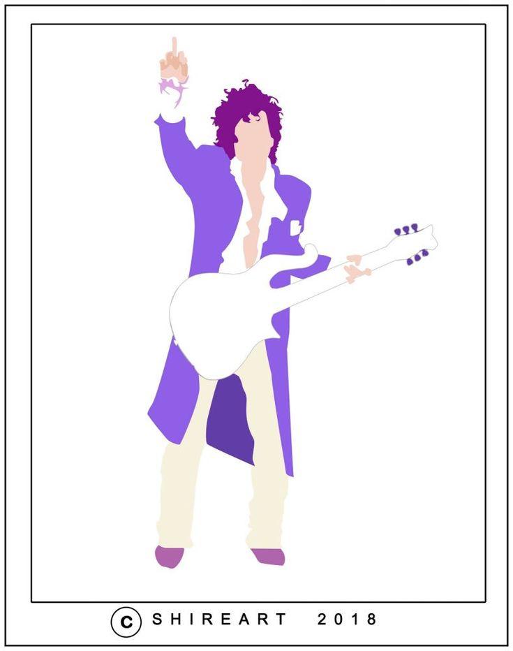 Prince Minimalist Poster - Purple Rain