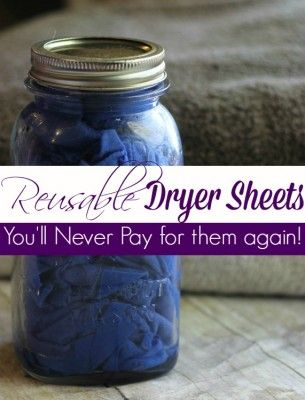 These homemade reusable essential oil dryer sheets are a frugal option that DOES NOT use harmful chemicals to add a pleasing scent to your clothing. Using