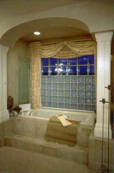 Glass Block Can Provide A Wall Of Light While Providing Privacy, As  Illustrated In The