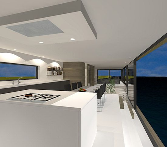 Nieuwbouw ontwerp woonboot houseboat architect amsterdam for Interieur architect amsterdam