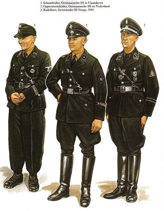 Nazi storm troopers uniform