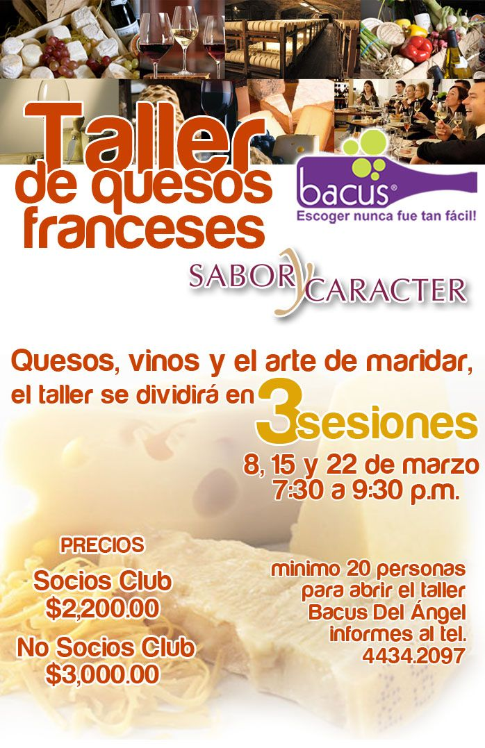 Taller de quesos franceses bacus df quesos pinterest for Guisos franceses