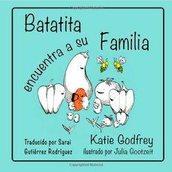 """2014 Moonbeam Medalist. """"BATATITA ENCUENTRA A SU FAMILIA relata la historia de Batatita la batata y su periplo para encontrar a su familia biológica, los Solanaceae. Batatita sabe que es diferente a su familia adoptiva, así que parte en un viaje para descubrir el porqué."""""""