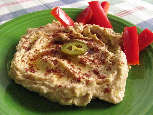 Jalapeno Hummus. I put fresh jalapeño, cilantro, garlic, and Greek ...