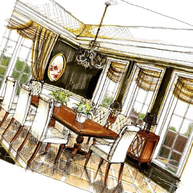 Dining room (option) What if I use black? Mbwahahahhaha #evil #laugh.. #blackandgold #black #diningroom #arch_daily #arquisemteta #arquitetapage #s2arquitetura #arch_daily #ar_sketch #photoshop #sketsa #sketsa_interior #arch_land #arch_more