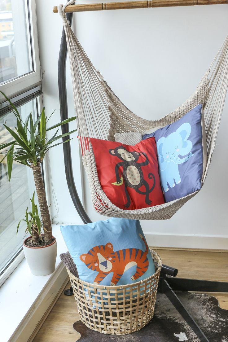 Cojines infantiles de animales de la selva para decorar cualquier habitación. #cojines #animales #selva
