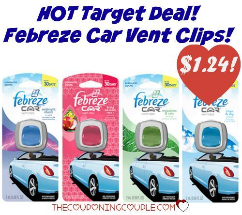 Grab some CHEAP Febreze Car Vent Clips at Target! Keep that car smelling good! Only $1.24 (reg $2.99!)  Click the link below to get all of the details ► http://www.thecouponingcouple.com/febreze-car-vent-clips-only-1-24-target-reg-2-99/  #Coupons #Couponing #CouponCommunity  Visit us at http://www.thecouponingcouple.com for more great posts!