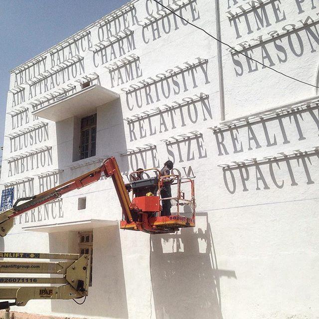 dynamic typographic solar mural by DAKU