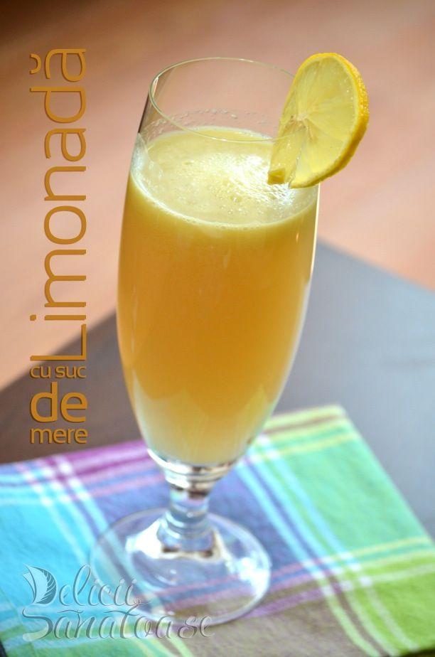Limonada cu suc de mere @Delicii Sanatoase
