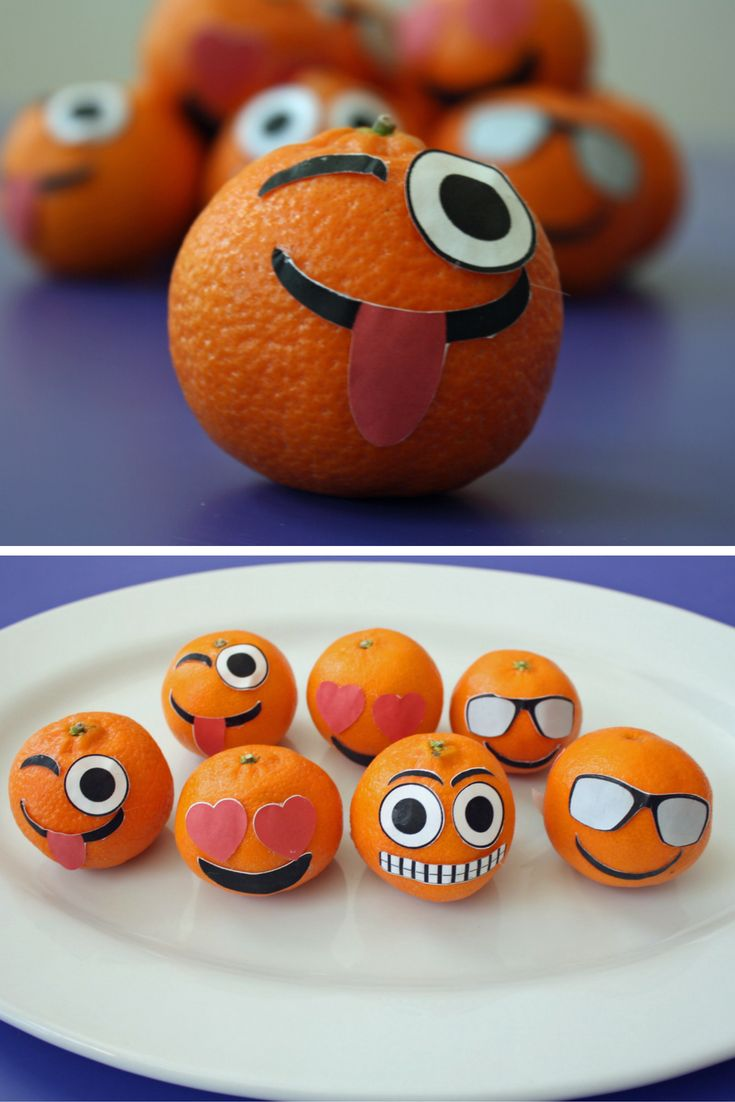How to make Emoji Oranges for school lunches or birthday parties
