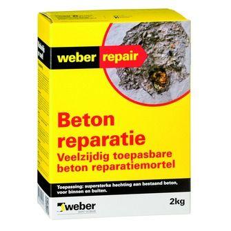 Weber SG beton reparatie 2 kg | Mortel | Cement, mortel & zand | Bouwmaterialen | KARWEI