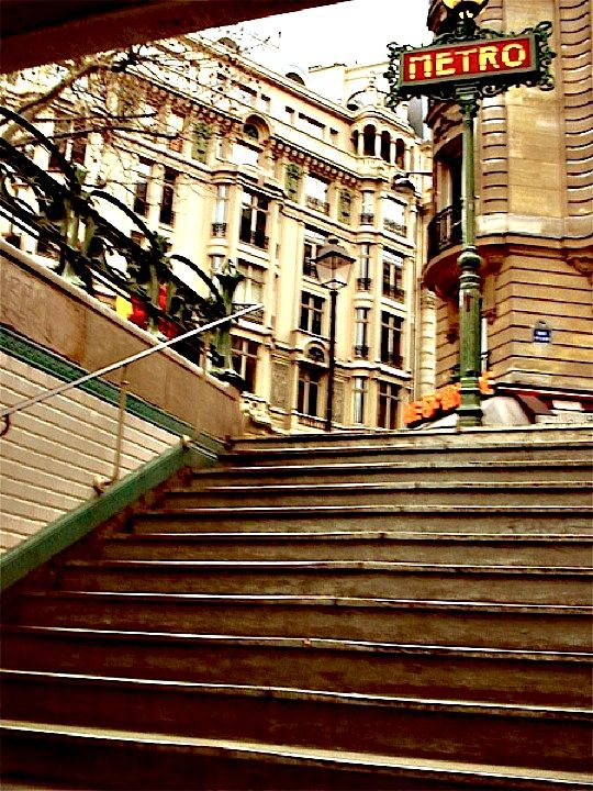 Saint michel metro station the first view many - Saint michel paris metro ...