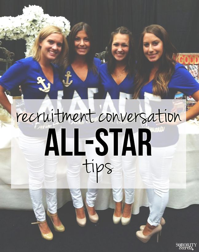 The Sorority Secrets: Recruitment Conversation All-Star Tips